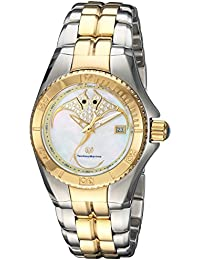 Womens Cruise Quartz Stainless Steel Casual Watch, Color Two Tone (Model: