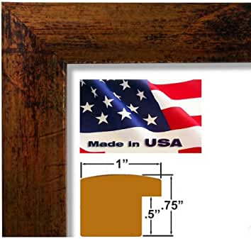 18x24 custom bronze picture poster photo frame wood composite elegant one 1 inch