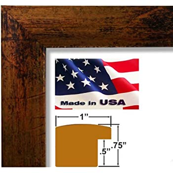 20x27 custom bronze picture poster photo frame wood composite elegant one 1 inch wide moulding