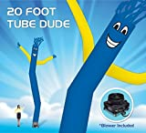 EasyGoProducts 20 Foot Fly Guy - Inflatable Dancer Tube Man - Sky Puppet Dancing Balloon. - Blue Body with Yellow Arms. INCLUDES H