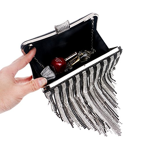 Bag Size Clutch XS Color Banquet Bride Bag Bag Evening Luxury Ladies Silver Silver Gorgeous Nightclub Evening Luxury Diamond qZ0UAUP