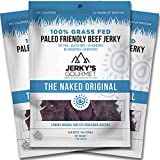 Naked Grass Fed Beef Jerky – 120 Calorie Snacks, Gourmet Healthy Low Carb, High Protein – Keto Friendly, Paleo Friendly, Soy Free & Gluten Free (3 Packs) Review