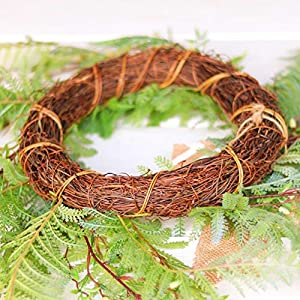 Tiny Land 22 Inches Spring Wreath for Front Door with Knotted Bow, Handcrafted Wicker Rattan Loop Frame | Faux Home Decorative Display | Rustic, Farmhouse Decor 6