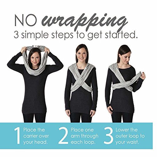 Baby K'tan ORIGINAL Cotton Wrap Baby Carrier, Black, Small