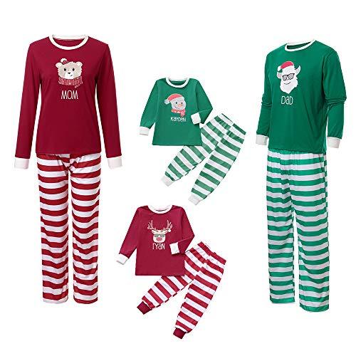 Seaintheson Family Matching Christmas Pajamas Set Deer Tops
