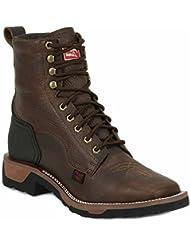 TW2017 Tony Lama Mens TLX Western Work Boots - Bark