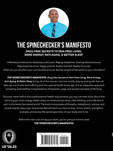 518gfcl7QOL - The Spinechecker's Manifesto: Drug-Free Secrets to Pain-Free Living, More Energy, Anti-Aging, & Better Sleep