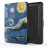 MoKo Case for All-New Kindle E-reader (8th Generation 2016) - The Thinnest and Lightest SmartShell Cover with Auto Wake/Sleep for Amazon Kindle (6' Display, 8th Gen 2016 Release), Starry Night