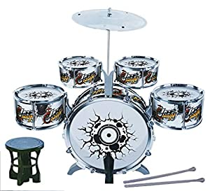 Big Band Jazz Kids Drum Set Kit Childs Play Music Toy Mini Musical Playset  Multi Color