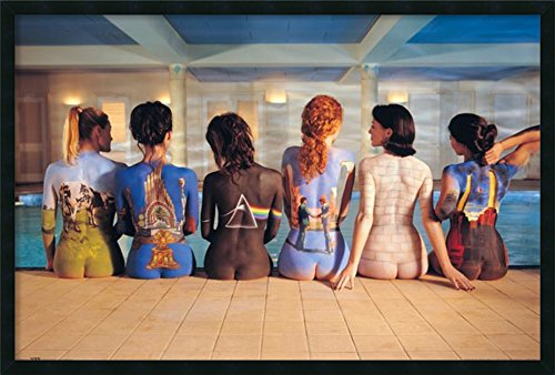 Framed Art Print, 'Pink Floyd Back Catalog': Outer Size 37 x 25