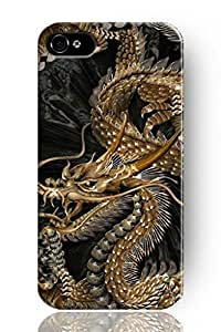Generic Personalized golden chinese dragon Snap on Hard Plastic Case Cover For iPhone 6 (4.7 Inch Screen) wangjiang maoyi