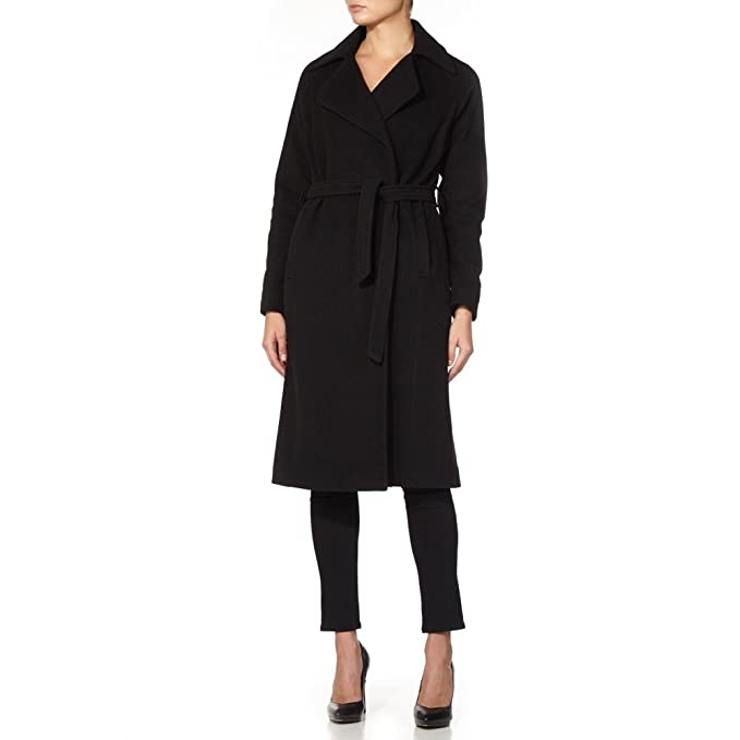 pick up the cheapest exceptional range of colors De La Creme - Navy Women`s Winter Wool Cashmere Wrap Coat