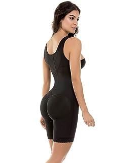 Fajate CYSM Fajas Colombianas Reductoras High Control Mid-Thigh Bodysuit Ref 455BLK