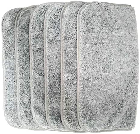 33 x 33/cm Toalla para la Cara de Microfibra superabsorbente antipelusa Pack de 6 Polyte Gris