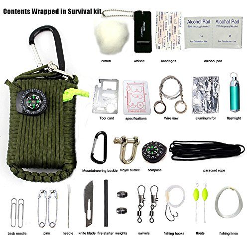 SZCHENGCI Paracord Emergency Survival Multifunction
