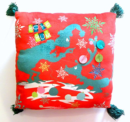 Universal Park Red Furry Grinch Christmas Santa Max Throw Pillow Dr. Suess - Max Costume Grinch