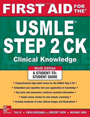 First Aid for the USMLE Step 2 CK, Ninth Edition (First Aid - First 5 Aid Shelf