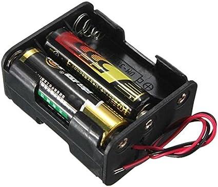 2 x PP3 9V Batteria Supporto Con Porta 150mm