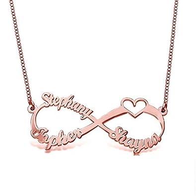 580f585bd22c Bokning Collar de nombre personalizado 925 1000 joyas de plata esterlina  para regalo de las mujeres  Amazon.es  Joyería
