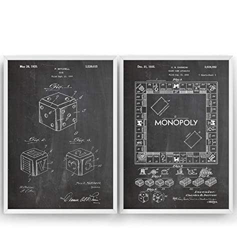 Juego De Mesa Poster de Patente - Conjunto de 2 Impresiones - Board Game Patent Print Póster Con Diseños Patentes Decoración de Hogar Inventos Carteles - Marco No Incluido: Amazon.es: Handmade
