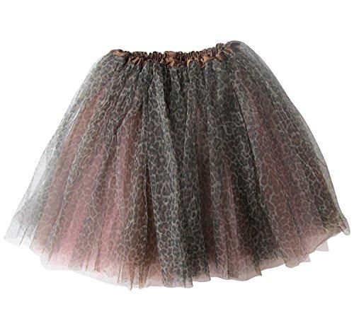 [Plus Size Child's Costume Skirt - Three Layer Princess Ballerina Ballet Tutu (Cheetah Pink)] (Plus Size Ballerina Costumes)