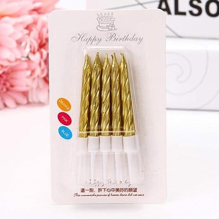 Grasa Mashroom Oro Rosa Velas de Feliz cumpleaños ...