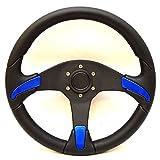 Uflex Boat Steering Wheel GORGONA-R/P/CP | 13 3/4 Inch Cobalt Blue