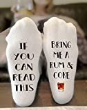 If You Can Read This Bring Me A Rum and Coke Socks Novelty Funky Crew Socks Men Women Christmas Gifts Cotton Slipper Socks