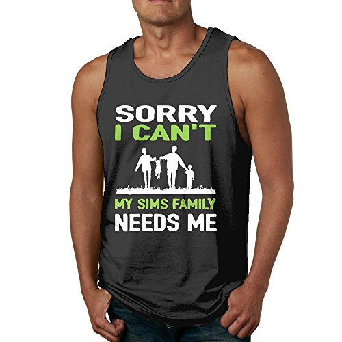 Hengdogx Sorry I Can't My Sims Family Needs Me Tank Top Tshirt For Men SizeM (Party Galaxy Near Me)