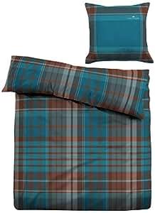 Tom Tailor 69515/824/004 - Juego de funda nórdica, con cuadros, 155 x 220 cm + 1 funda de almohada, 80 x 80 cm