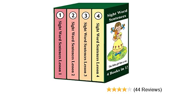Sight Word Sentences - Lessons 1-4: 4 Books in 1! - Kindle edition