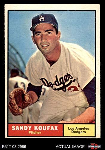 1961 Topps # 344 Sandy Koufax Los Angeles Dodgers (Baseball Card) Dean's Cards 5 - EX Dodgers