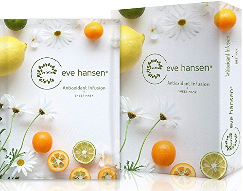 Sun Damage Repair (Moisture Recovery Sheet Mask by Eve Hansen - Intensive Sun Damage Repair with Deep Hydration - Pack of 5 Face Masks)