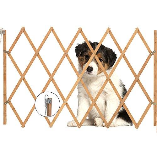 AllRight Hundeabsperrgitter Hundegitter Hundegatter Schutzgitter Treppenschutzgitter Holz aufziehbar Befestigungsmaterial 85 x 108 cm oem