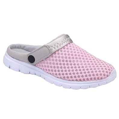 YOUJIA Unisex Sommer Casual Atmungsaktiv Clogs Strand Geschlossene Zehe Hausschuhe Pantoffeln Slippers (#2 Grau, 38 EU)