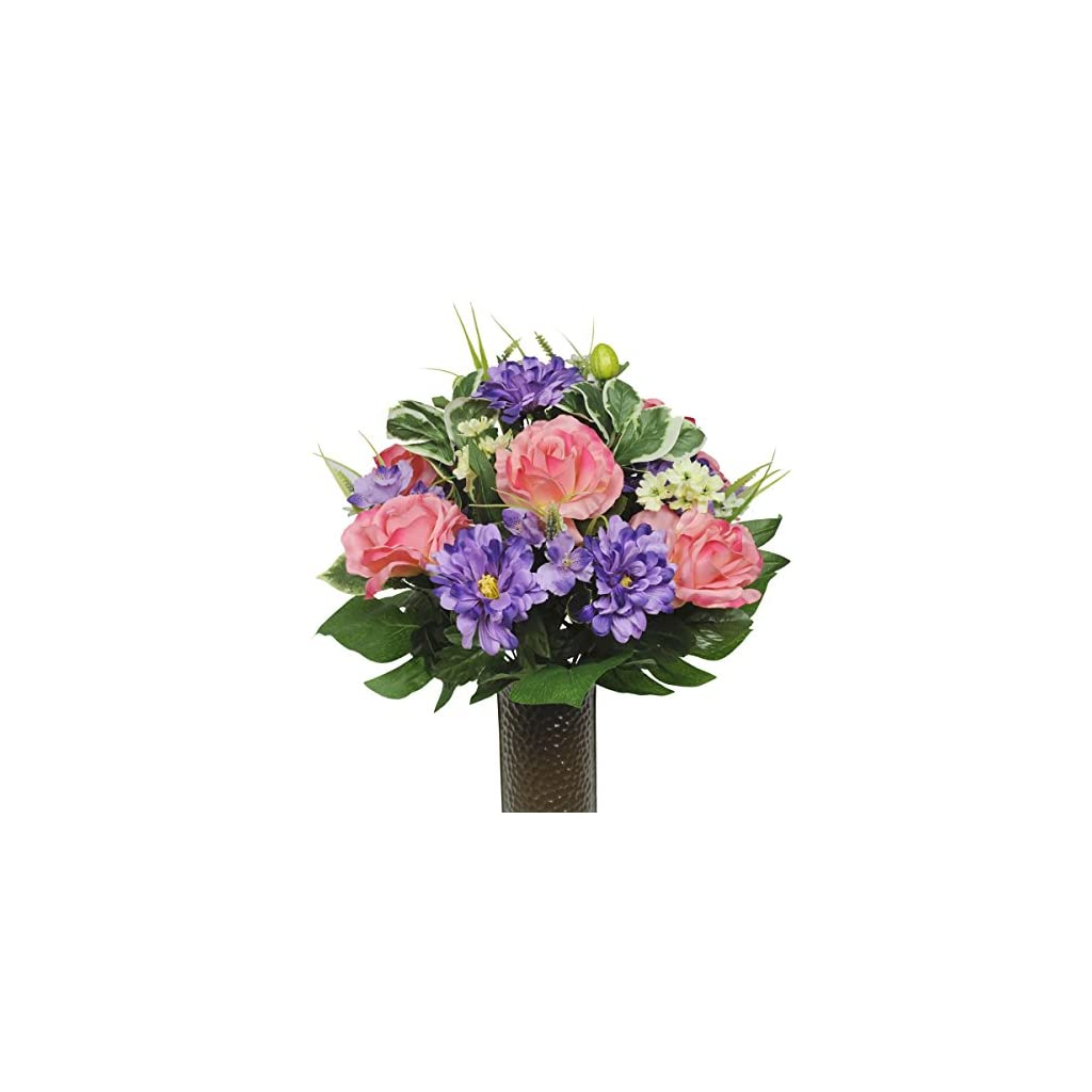 Pink-Rose-and-Purple-Dahlia-Mix-Artificial-Bouquet-featuring-the-Stay-In-The-Vase-Designc-Flower-Holder-SM1347