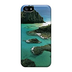 High Grade GMlvarez Flexible Tpu Case For Iphone 5/5s - Aquamarine Beach Ocean