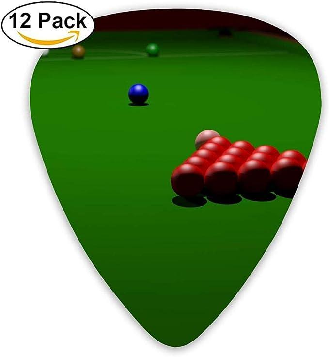 Dibujos animados Cool Snooker Billar Guitar Pick 12Pack: Amazon.es: Instrumentos musicales