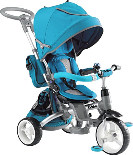 Kettler Tricycle Push Bar - Kiddi-o by Kettler 6-in-1 Multi-Trike Ride-On Vehicle, Turquoise