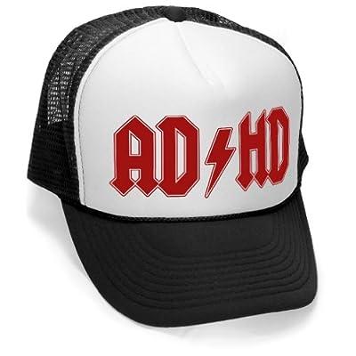 Megashirtz - AD-HD - Vintage Style Trucker Hat Retro Mesh Cap
