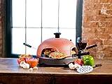 PizzaDome PD401 4-Person Portable Italian Brick/Terra-Cotta Oven