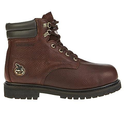 Georgia Men's Oiler-M Steel Toe Work Boot, Brown, 12 M US