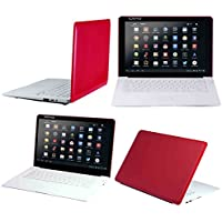 Craig Electronics 14 Netbook 4 GB Dual Core HD Screen Powered Slimbook, Red CLP290 RD