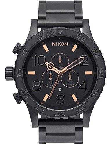 Black/Rose Gold The 51-30 Chrono Watch by Nixon