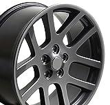 22x10 Wheel Fits Dodge, RAM Trucks - RAM SRT Style Gunmetal Rim, Hollander 2223