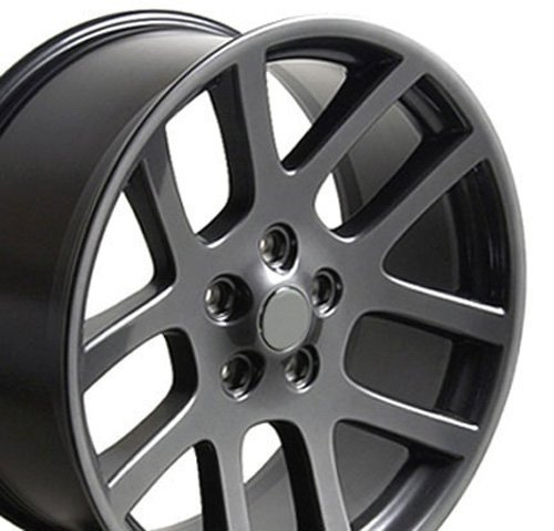 22x10 Wheel Fits Dodge, RAM Trucks - RAM SRT Style Gunmetal Rim, Hollander 2223 Dodge Srt 10 Truck