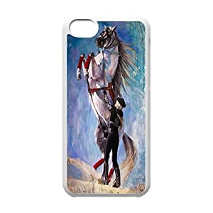 Horse & Unicorn series protective cover For Iphone 5c A-unicorn-B54267