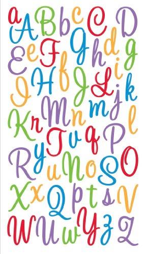 Sticko EK Success, Sweetheart Multicolor Script Alphabet Sticker