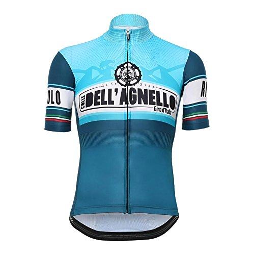 ノーブランド品 サイクルジャージ レトロデザイン No14 イタリア メンズ クールマックス仕様 自転車 MTB サイクリング ロードバイク