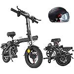Alta velocità Pieghevole bici elettrica Ebike, 14 '' bicicletta elettrica con 48V rimovibile agli ioni di litio, 350W motore, freni a disco doppio, 3 Digital regolabile Velocità, manico pieghevole